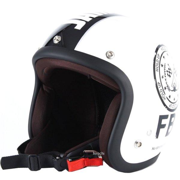ナナニージャム 72JAM ジェットヘルメット F.B.I. 白 フリーサイズ(57-60cm未満) JJ-02 HD店