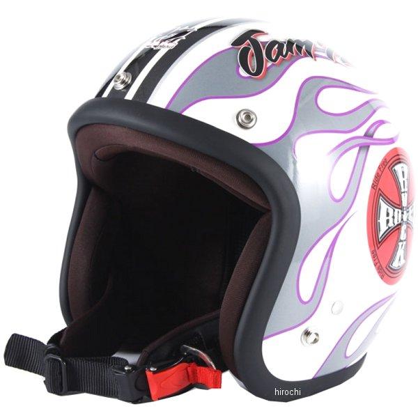 ナナニージャム 72JAM ジェットヘルメット ROCK&ROLL 白 フリーサイズ(57-60cm未満) JJ-07 HD店