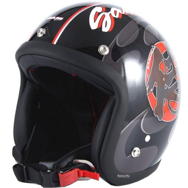 ナナニージャム 72JAM ジェットヘルメット SAMURAI 黒 フリーサイズ(57-60cm未満) JF-11 HD店
