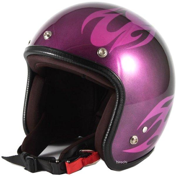 ナナニージャム 72JAM ジェットヘルメット カスタムペイントJAM BURNS ピンク フリーサイズ(57-60cm未満) JCP-03 HD店