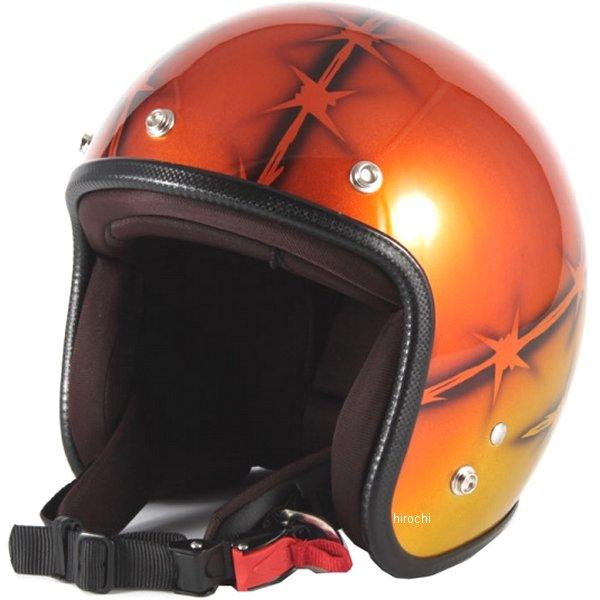 ナナニージャム 72JAM ジェットヘルメット カスタムペイントJAM ZEKE オレンジ フリーサイズ(57-60cm未満) JCP-05 HD店