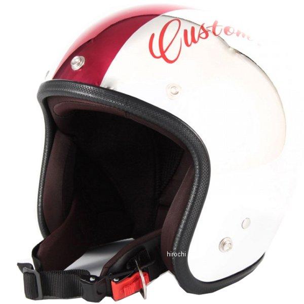 ナナニージャム 72JAM ジェットヘルメット カスタムペイントJAM CHROMES 赤 フリーサイズ(57-60cm未満) JCP-07 HD店