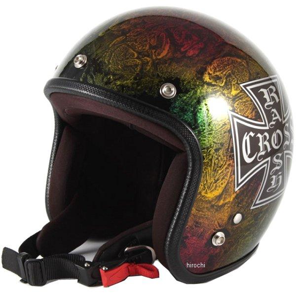 ナナニージャム 72JAM ジェットヘルメット カスタムペイントJAM RASH CROSS レインボー フリーサイズ(57-60cm未満) JCP-14 HD店