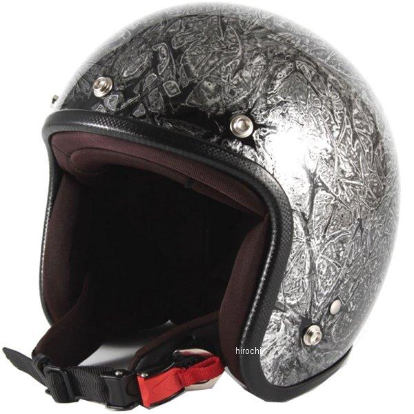 ナナニージャム 72JAM ジェットヘルメット カスタムペイントJAM RASH シルバー フリーサイズ(57-60cm未満) JCP-17 HD店