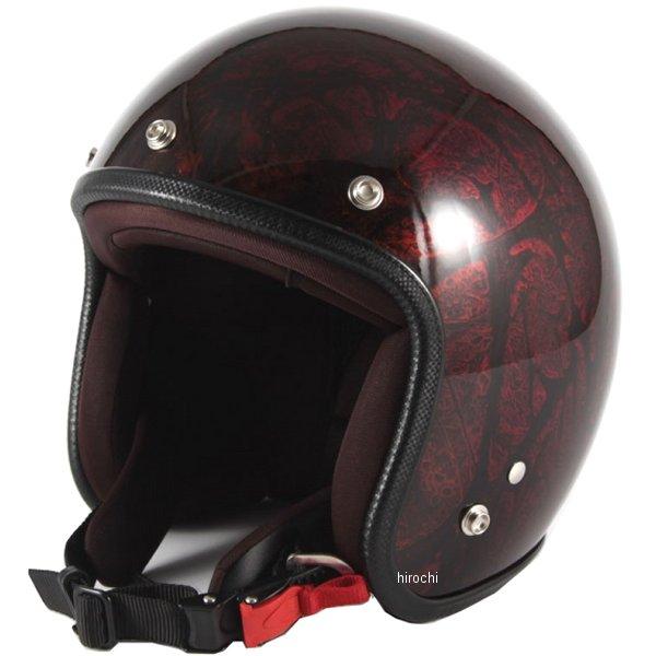 ナナニージャム 72JAM ジェットヘルメット カスタムペイントJAM RASH 赤/ブラウン フリーサイズ(57-60cm未満) JCP-20 HD店