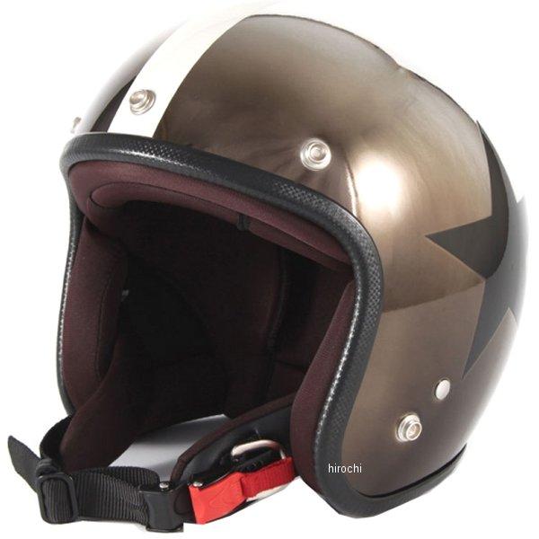 ナナニージャム 72JAM ジェットヘルメット カスタムペイントJAM CHROMES CLASSICAL STAR メッキ フリーサイズ(57-60cm未満) JCP-11 HD店