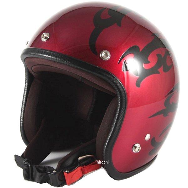 ナナニージャム 72JAM ジェットヘルメット カスタムペイントJAM TRIBAL 赤 フリーサイズ(57-60cm未満) JCP-22 HD店