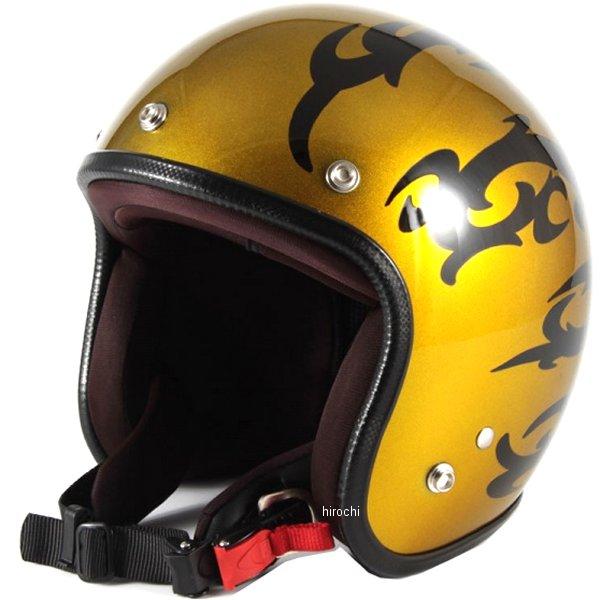 ナナニージャム 72JAM ジェットヘルメット カスタムペイントJAM TRIBAL ゴールド フリーサイズ(57-60cm未満) JCP-23 HD店