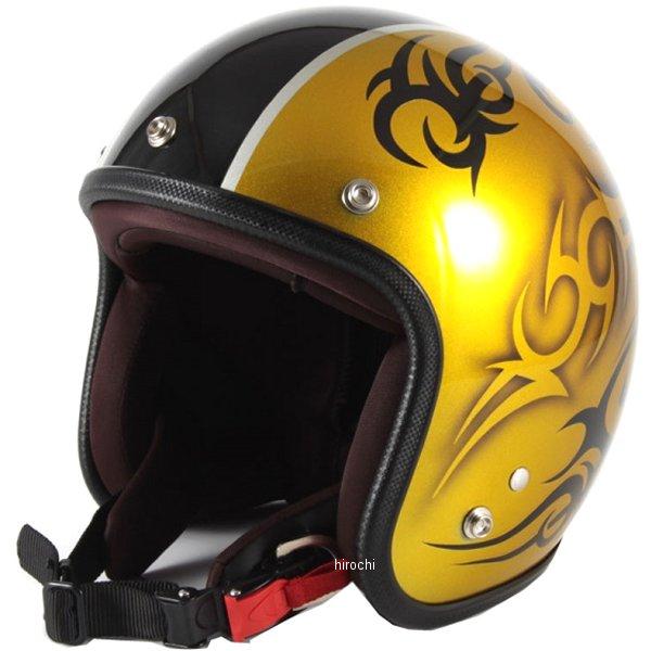 ナナニージャム 72JAM ジェットヘルメット カスタムペイントJAM TRIBAL ゴールド/ブラックライン フリーサイズ(57-60cm未満) JCP-26 HD店