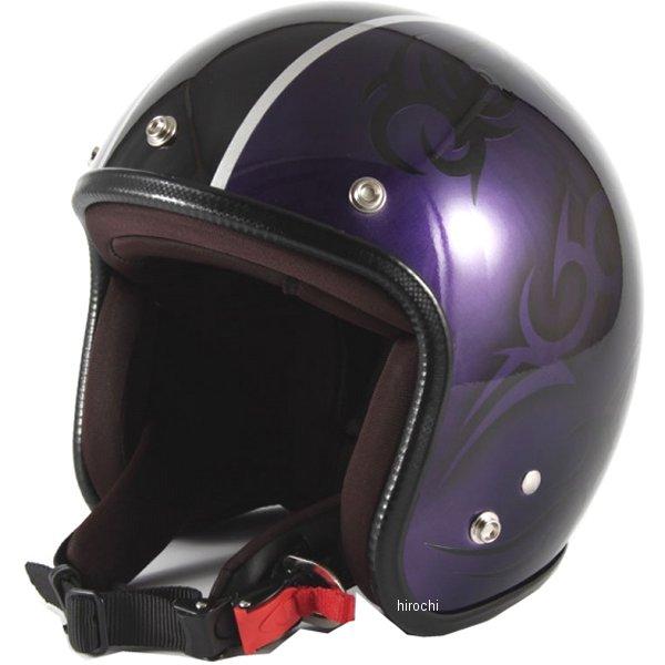 ナナニージャム 72JAM ジェットヘルメット カスタムペイントJAM TRIBAL パープル/ブラックライン フリーサイズ(57-60cm未満) JCP-27 HD店
