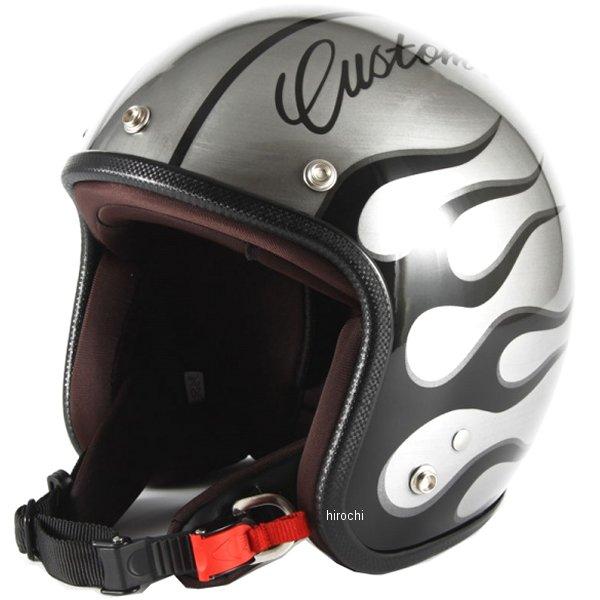 ナナニージャム 72JAM ジェットヘルメット カスタムペイントJAM IRON FLAME シルバー フリーサイズ(57-60cm未満) JCP-28 HD店