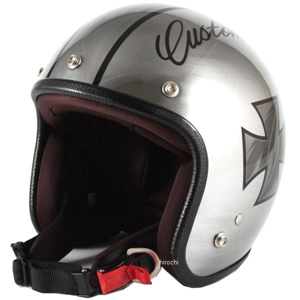 ナナニージャム 72JAM ジェットヘルメット カスタムペイントJAM IRON CROSS シルバー フリーサイズ(57-60cm未満) JCP-29 HD店