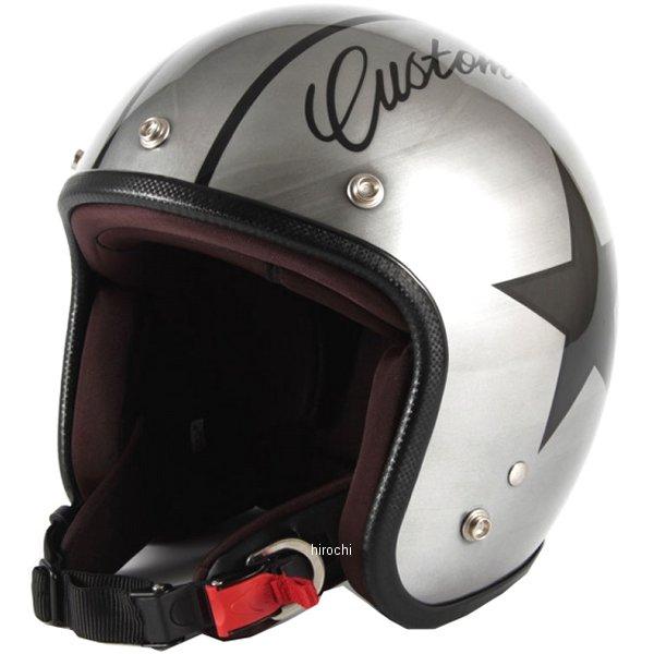 ナナニージャム 72JAM ジェットヘルメット カスタムペイントJAM IRON STAR シルバー フリーサイズ(57-60cm未満) JCP-30 HD店