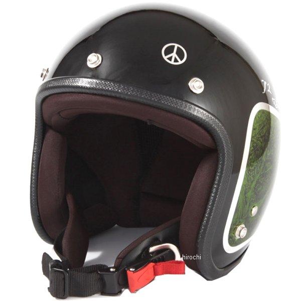 ナナニージャム 72JAM ジェットヘルメット カスタムペイントJAM WEED 緑 フリーサイズ(57-60cm未満) JCP-36 HD店