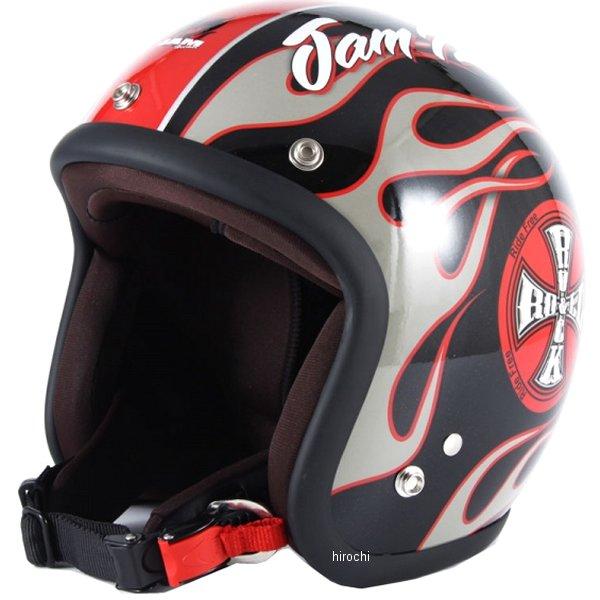 ナナニージャム 72JAM ジェットヘルメット JET ROCK&ROLL ブラックグロス フリーサイズ(57-60cm未満) JJ-06G HD店