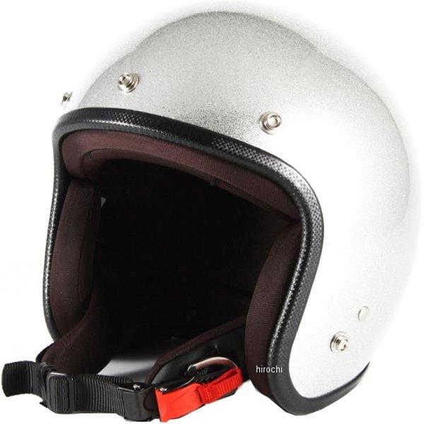 ナナニージャム 72JAM ジェットヘルメット JP-MONO シルバーフレーク 女性用サイズ(55-57cm未満) JPF-4S HD店