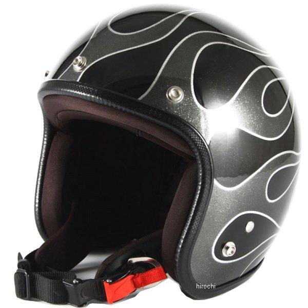ナナニージャム 72JAM ジェットヘルメット FLAMES 黒 フリーサイズ(57-60cm未満) JCP-42 HD店