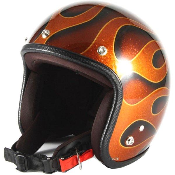 ナナニージャム 72JAM ジェットヘルメット FLAMES オレンジ フリーサイズ(57-60cm未満) JCP-43 HD店