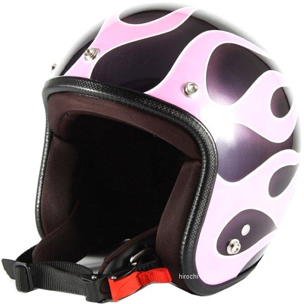 ナナニージャム 72JAM ジェットヘルメット FLAMES ピンク 女性用サイズ(55-57cm未満) JCP-44 HD店