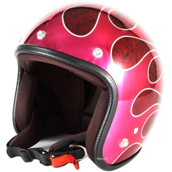 ナナニージャム 72JAM ジェットヘルメット FLAMES T-2 赤 フリーサイズ(57-60cm未満) JCP-45 HD店