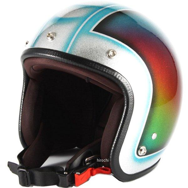 ナナニージャム 72JAM ジェットヘルメット Metal Snake 青 フリーサイズ(57-60cm未満) JCP-48 HD店