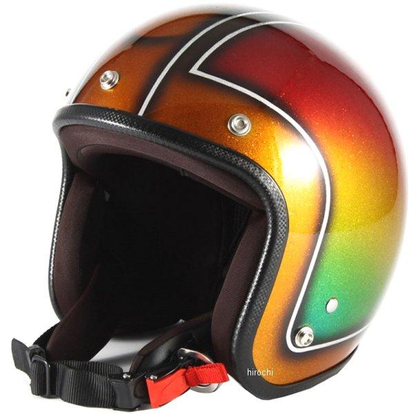 ナナニージャム 72JAM ジェットヘルメット Metal Snake ブラウン フリーサイズ(57-60cm未満) JCP-49 HD店