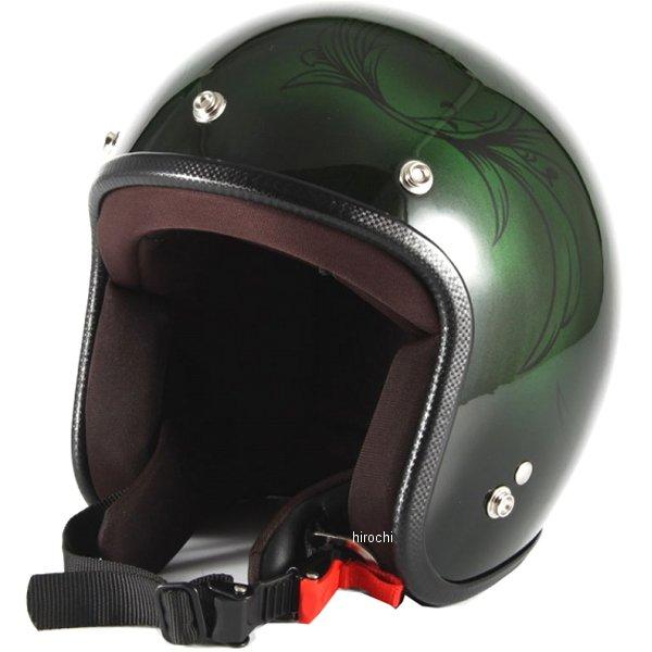 ナナニージャム 72JAM ジェットヘルメット LEAF 緑/黒 女性用サイズ(55-57cm未満) JCP-57 HD店