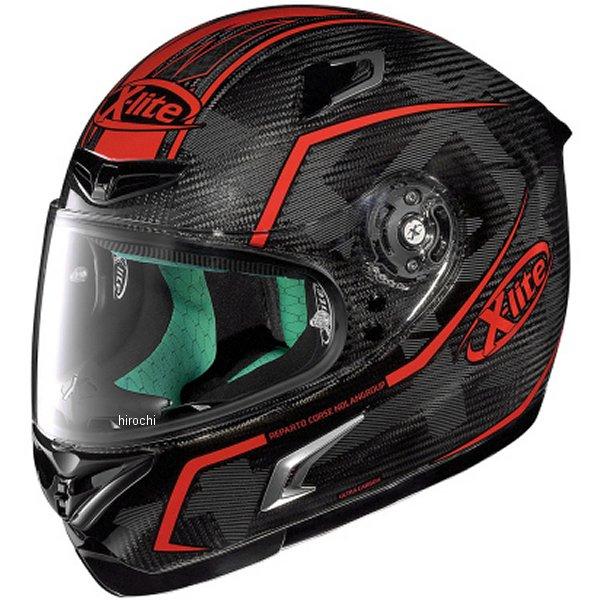 【メーカー在庫あり】 X-802RR ノーラン NOLAN フルフェイスヘルメット X-LITE ウルトラカーボン マーケトリー 赤 Lサイズ 95581 HD店