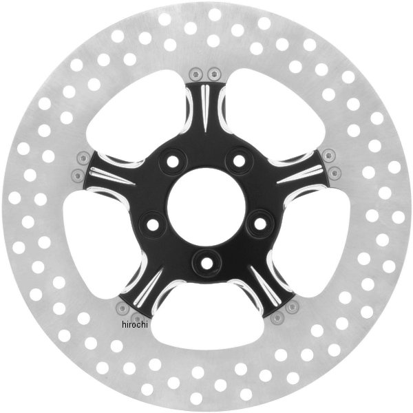 【USA在庫あり】 エクストリームマシン ブレーキローター 11.8インチ フロント フィアス 黒 Xquisite 678284 HD