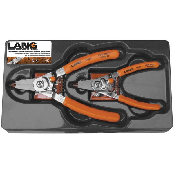 【USA在庫あり】 ラングツール Lang Tools 2ピース リテーニング リング プライヤーセット 151229 HD店