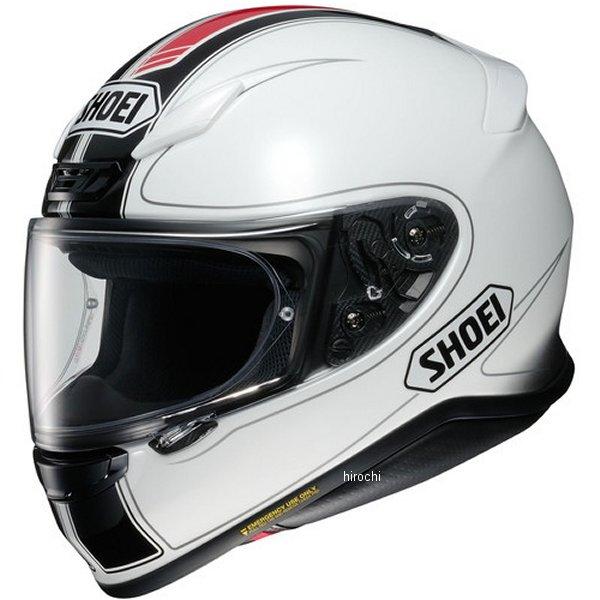 ショウエイ SHOEI フルフェイスヘルメット Z-7 FLAGGER フラッガー TC-6 白/赤 XXLサイズ(63cm) 4512048464547 HD店