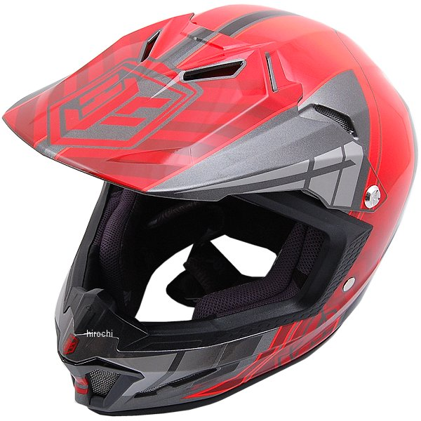 【メーカー在庫あり】 エイチジェイシー HJC オフロードヘルメット CL-XYクロスアップ 子供用 赤 Mサイズ(51-52cm) HJH099RE01M HD店