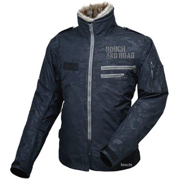 ラフ&ロード 秋冬モデル フライトジャケット ブラックエンボスカモ Lサイズ RR7683K-ECM3 HD店