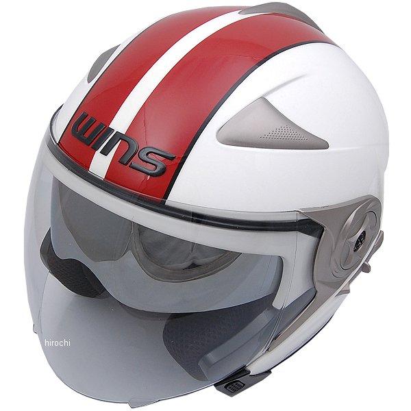 【メーカー在庫あり】 ウインズ WINS ジェットヘルメット MODIFY JET GTストライプ 白/赤 Mサイズ(57-58cm) 4560385766428 HD店