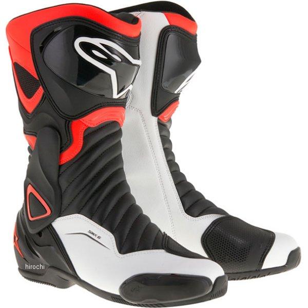 アルパインスターズ Alpinestars 秋冬モデル ブーツ SMX-6 3017 黒/蛍光赤/白 45サイズ (29.5cm) 8021506694625 HD店