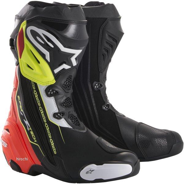 アルパインスターズ Alpinestars 秋冬モデル ブーツ SUPERTECH-R 0015 黒/赤/蛍光黄 42サイズ (26.5cm) 8021506924159 HD店