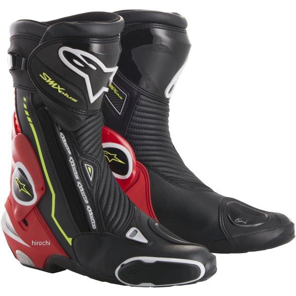 アルパインスターズ Alpinestars 秋冬モデル ブーツ SMX PLUS 1015 黒/蛍光赤/白/蛍光黄 43サイズ (27.5cm) 8021506924296 HD店