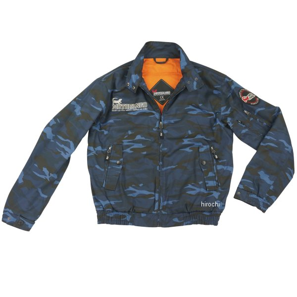 JK-591 コミネ KOMINE 秋冬モデル モトファンゴ プロテクトスイングトップジャケット ブルーカモ Sサイズ 4573325725591 HD店