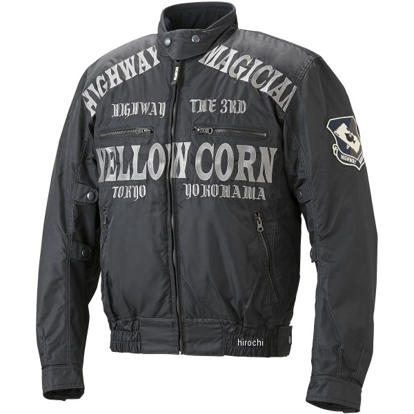 イエローコーン YeLLOW CORN 秋冬モデル ウインタージャケット 黒/ガンメタル 3Lサイズ YB-7306 HD店