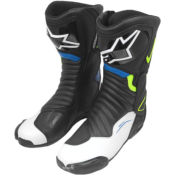 アルパインスターズ Alpinestars 秋冬モデル ブーツ SMX-6 3017 黒/白/蛍光黄/青 39サイズ (25cm) 8021506694410 HD店