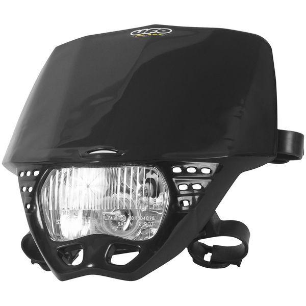 【USA在庫あり】 ユーフォープラスト UFO PLAST ヘッドライト クルーザー 黒 115848 HD店