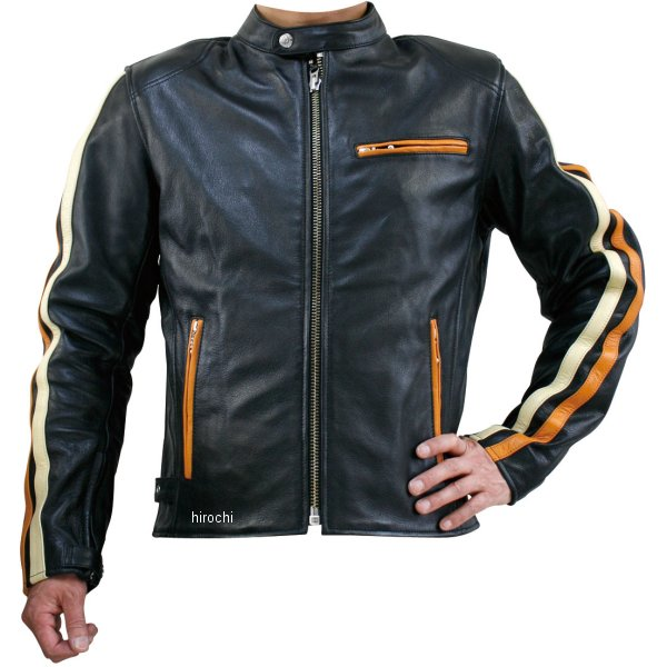 モトフィールド MOTO FIELD 秋冬モデル シングルレザージャケット ライン入り 黒 Lサイズ MF-LJ119 HD店