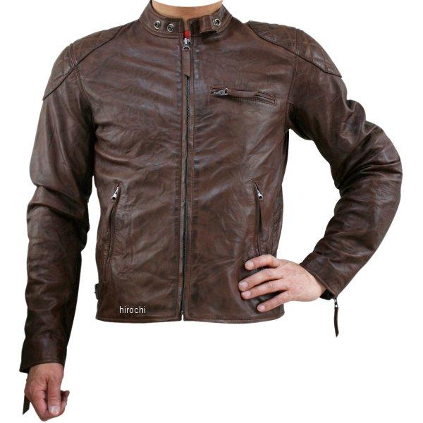 モトフィールド MOTO FIELD 秋冬モデル シングルレザージャケット ブラウン Lサイズ MF-LJ120 HD店
