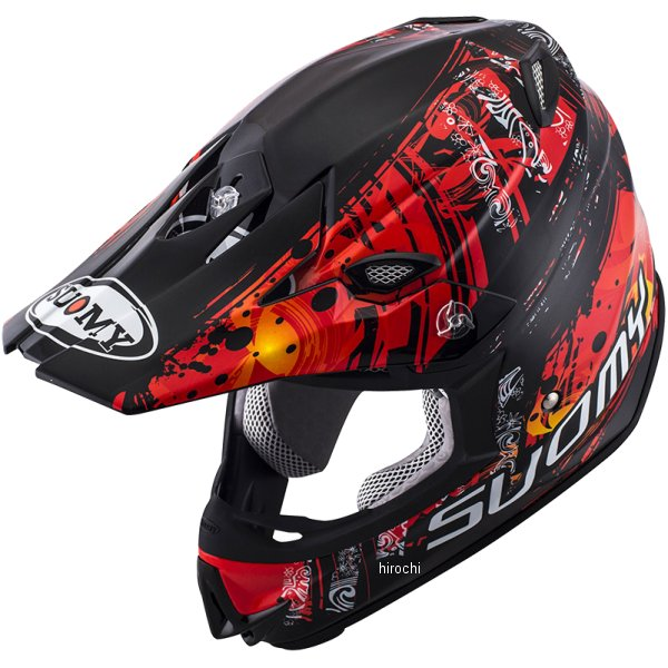 MJ0035 スオーミー SUOMY オフロードヘルメット MR.JUMP マオリ 赤 XLサイズ(61cm-62cm) SMJ003504 HD店