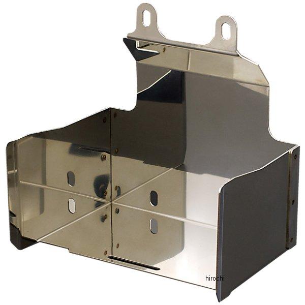 【メーカー在庫あり】 ピーエムシー PMC バッテリーカバーキット ZRX1200、ZRX1100 ステンレス 74-0150 HD店