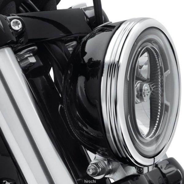 【USA在庫あり】 ハーレー純正 ヘッドライトトリムリング ディファイアンス 18年以降 FXBB 5-3/4インチ/クローム 61400429 HD店