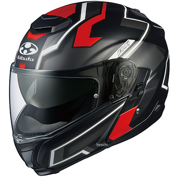 オージーケーカブト OGK KABUTO システムヘルメット IBUKI DARK フラットブラックレッド Lサイズ 4966094571221 HD店