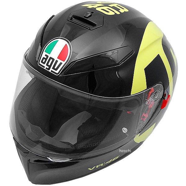 【メーカー在庫あり】 030190E0-009-M エージーブイ AGV フルフェイスヘルメット K-3 SV TOP BOLLO 46 黒/黄 Mサイズ (57-58cm) 030190E0-006-M HD店