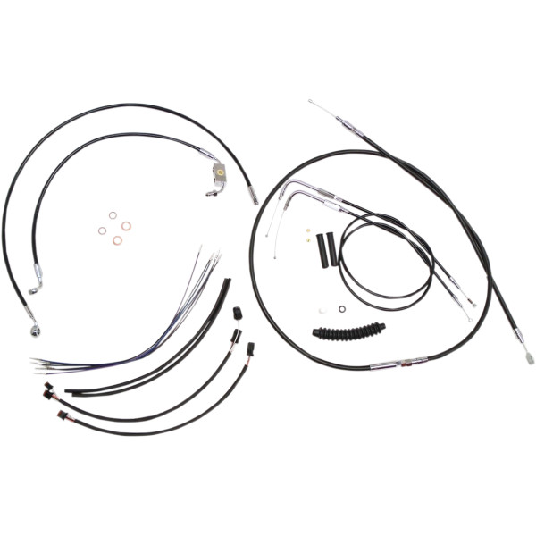 【USA在庫あり】 マグナム MAGNUM ケーブル キット XR 黒 12年-14年 FXDWG ABS付き 12-14インチ エイプバー用 0662-0291 HD店