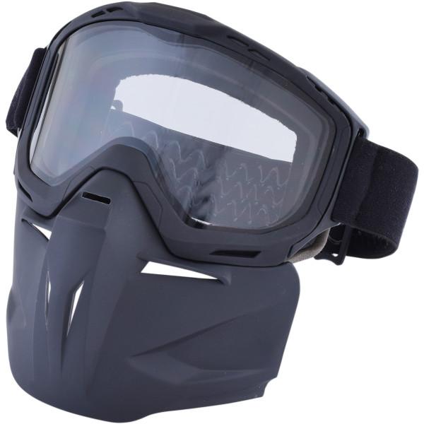 【USA在庫あり】 AFX ゴーグルとマスク マットブラック/クリアレンズ付き 2601-2461 HD店